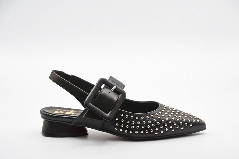 NOVITA' P/E 2021 Giò+ Calzatura Donna-Chanel Nappa Nera G1303