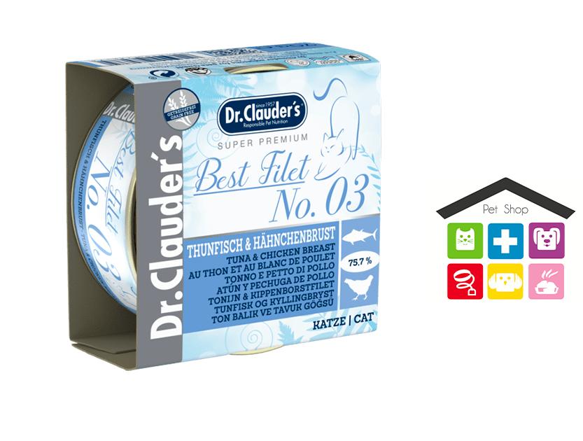 Dr Clauder's Filet – 03 Tonno e Petto di Pollo 0,70g