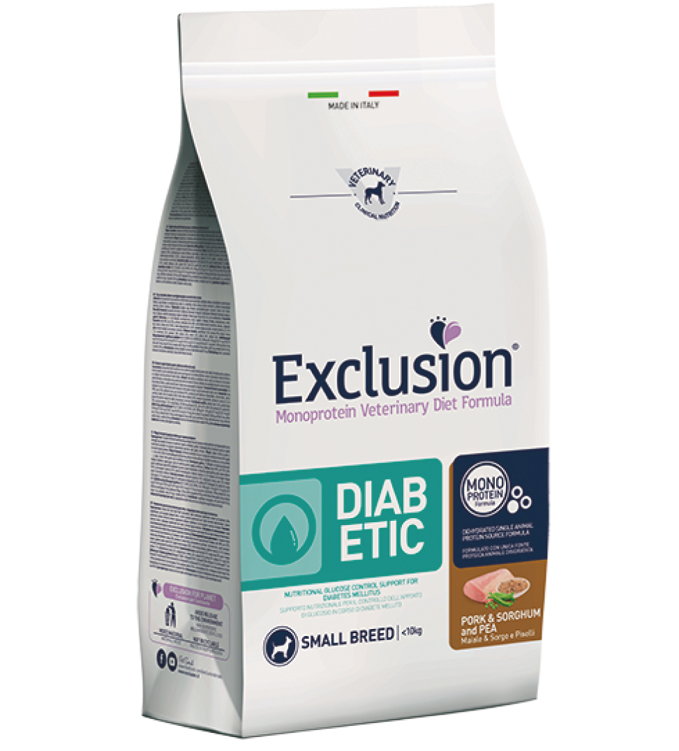 Exclusion - Veterinary Diet Canine - Diabetic - Small - 2kg