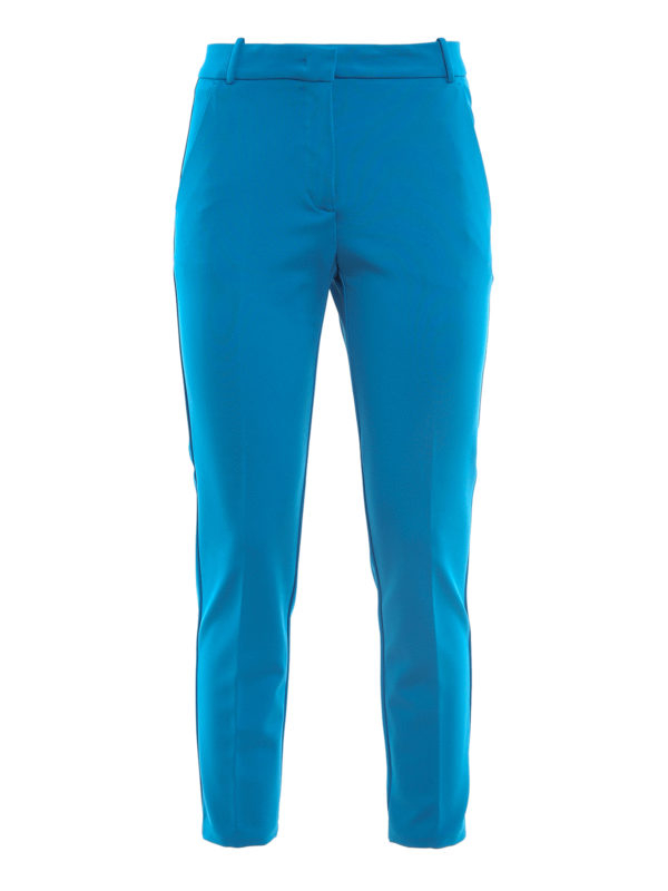 Pantalone Bello 100 cigarette-fit blu Pinko