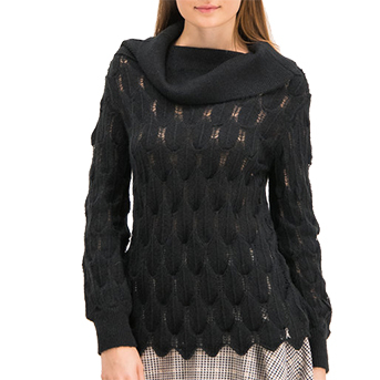 Maglia openwork tricot nera PATRIZIA PEPE