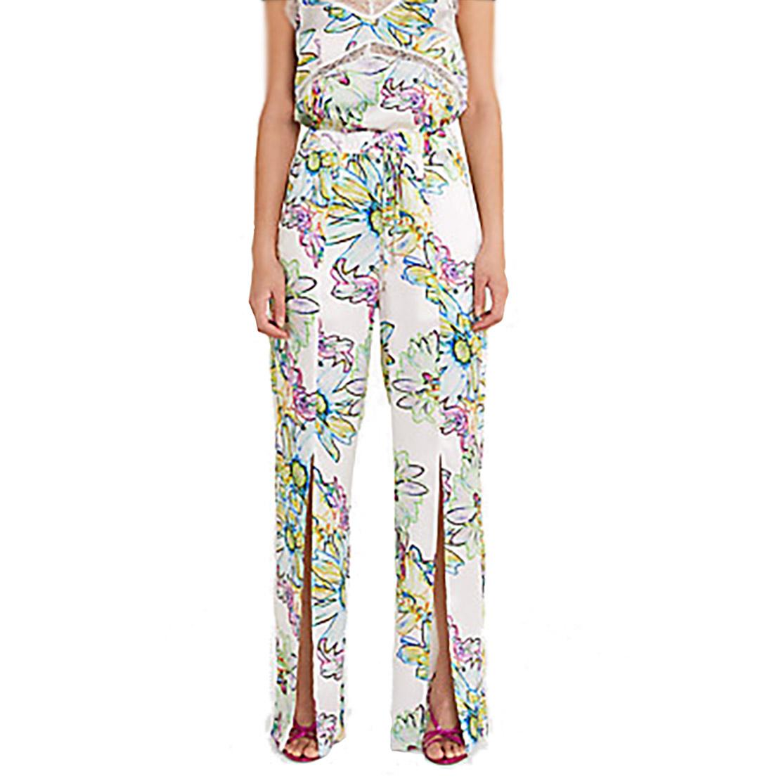 Pantaloni stampa flowers bianchi - PATRIZIA PEPE