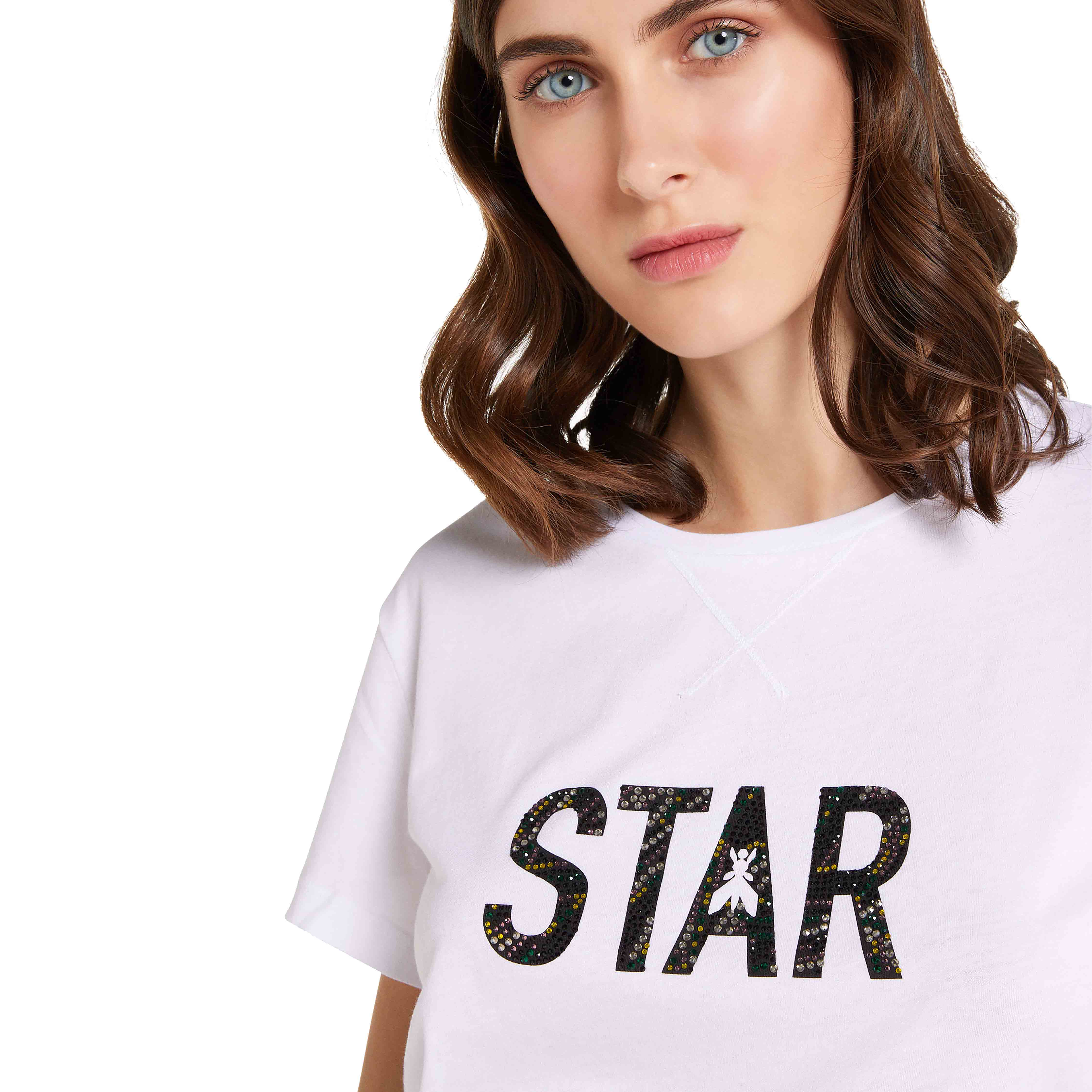 T shirt bianca star - PARTIZIA PEPE