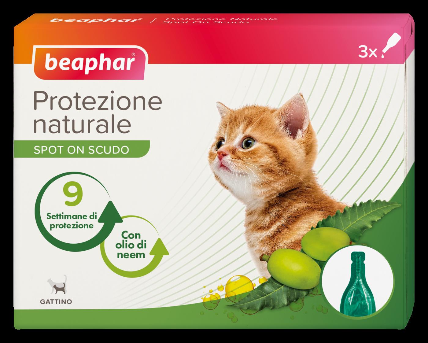Beaphar - Protezione Naturale - Spot-on Gattino 3 pipette