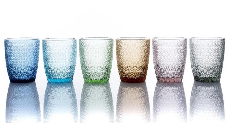 MOZART Set 6 bicchieri in pasta di vetro colori assortiti