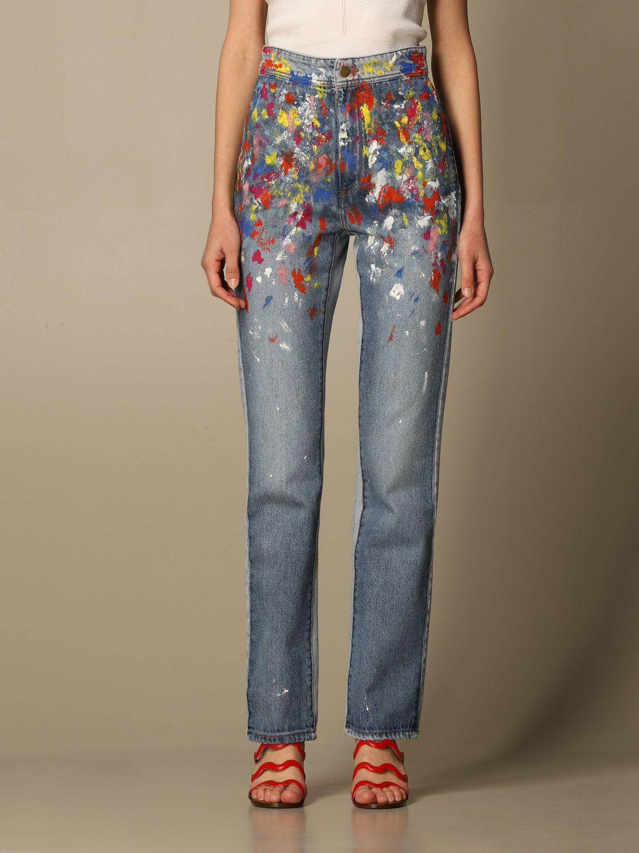 Jeans con effetto pittura philosophy di lorenzo serafini