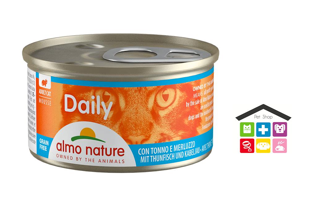 Almo Nature Daily Mousse Con Tonno E Merluzzo 0,85g