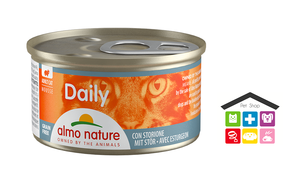 Almo Nature Daily Mousse con Storione 0,85g