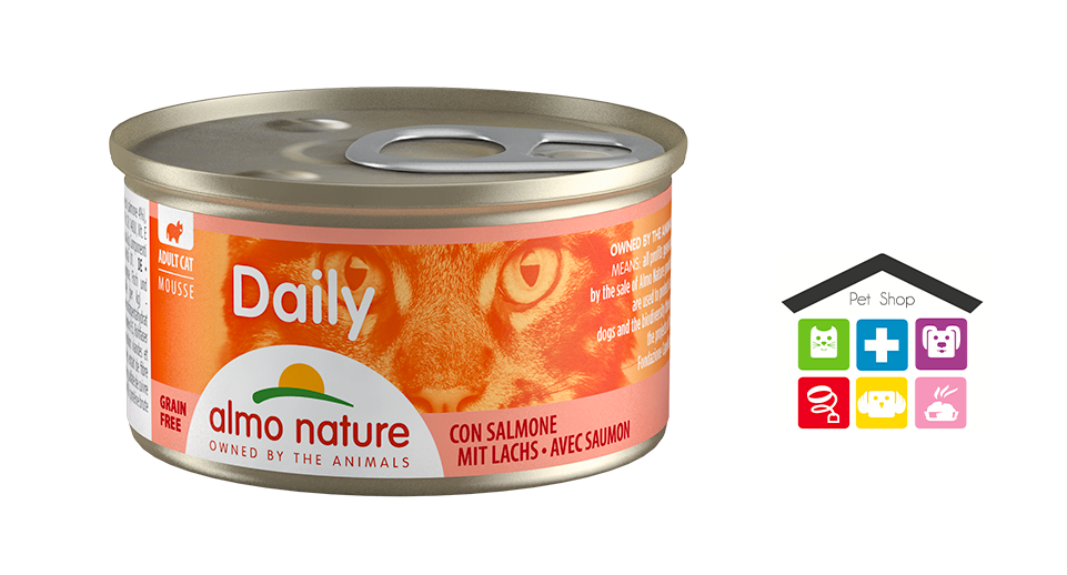 Almo Nature Daily Mousse con Salmone 0,85g