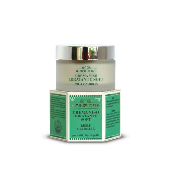 Apinfiore, Crema Viso Idratante Soft Miele e Achillea 50 ml