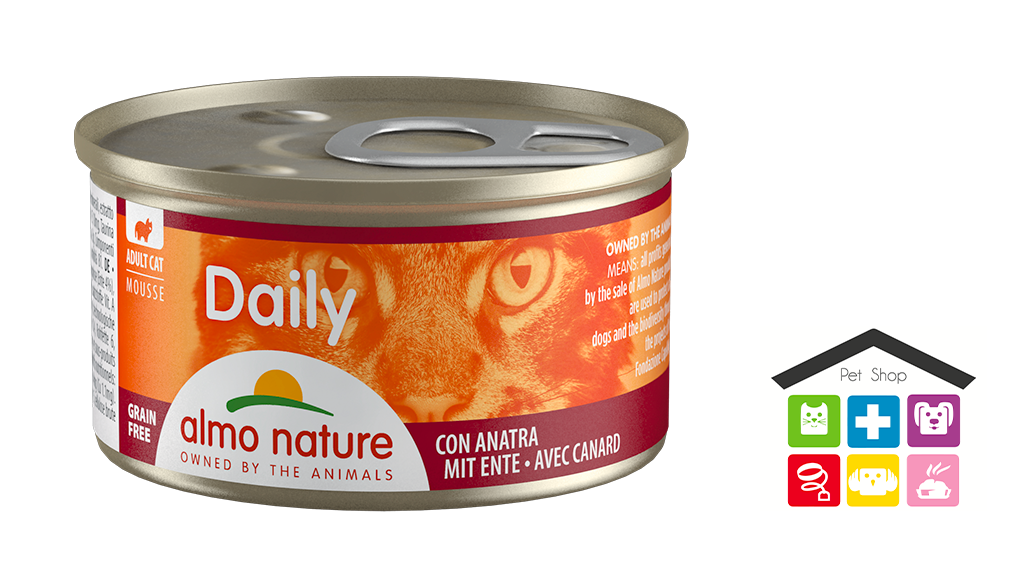Almo Nature Daily Mousse con Anatra 0,85gr