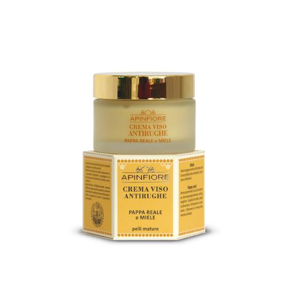 Apinfiore, Crema Viso Antirughe Pappa Reale e Miele 50 ml