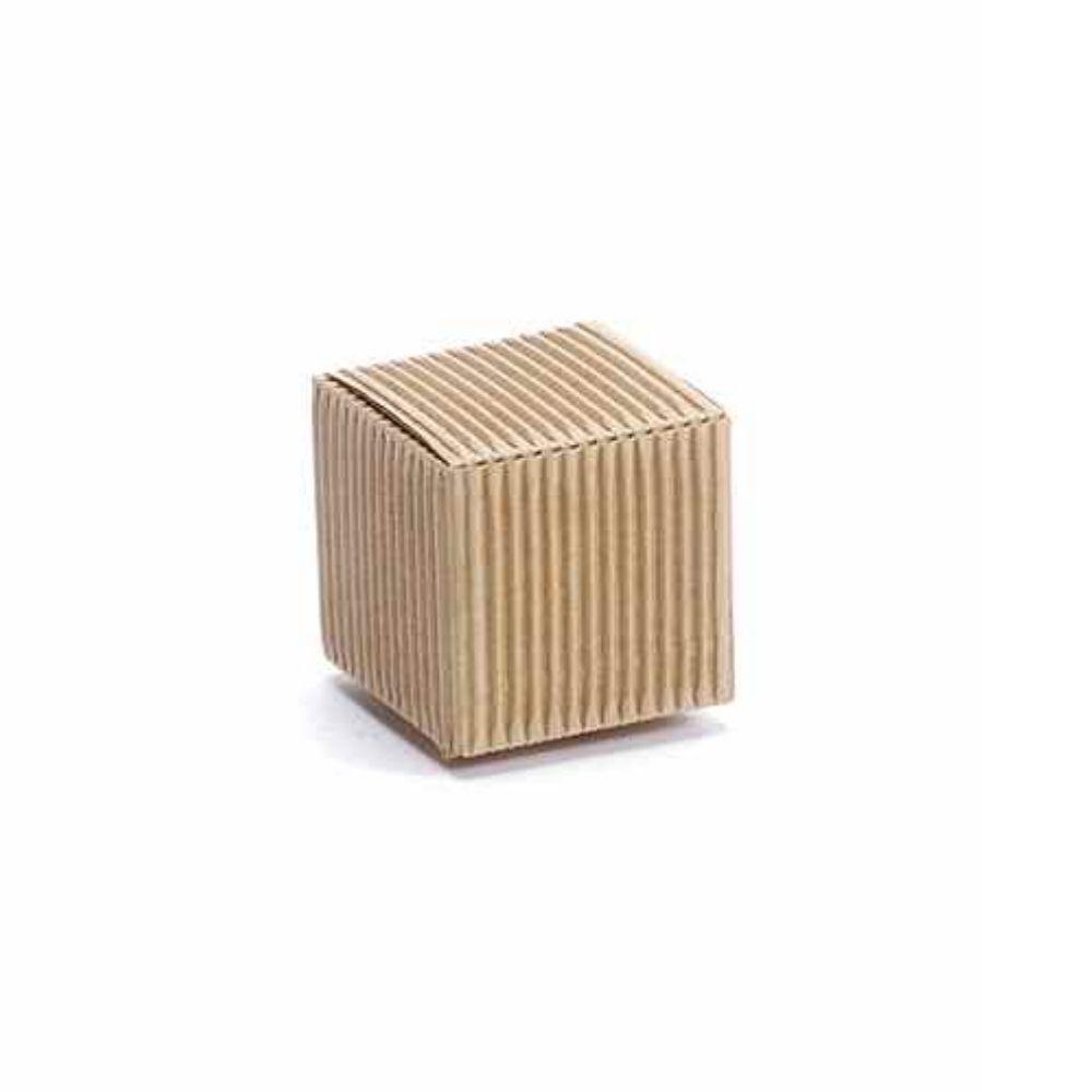 Scatola cubo rustica naturale cm 5 x 5 x 5 H