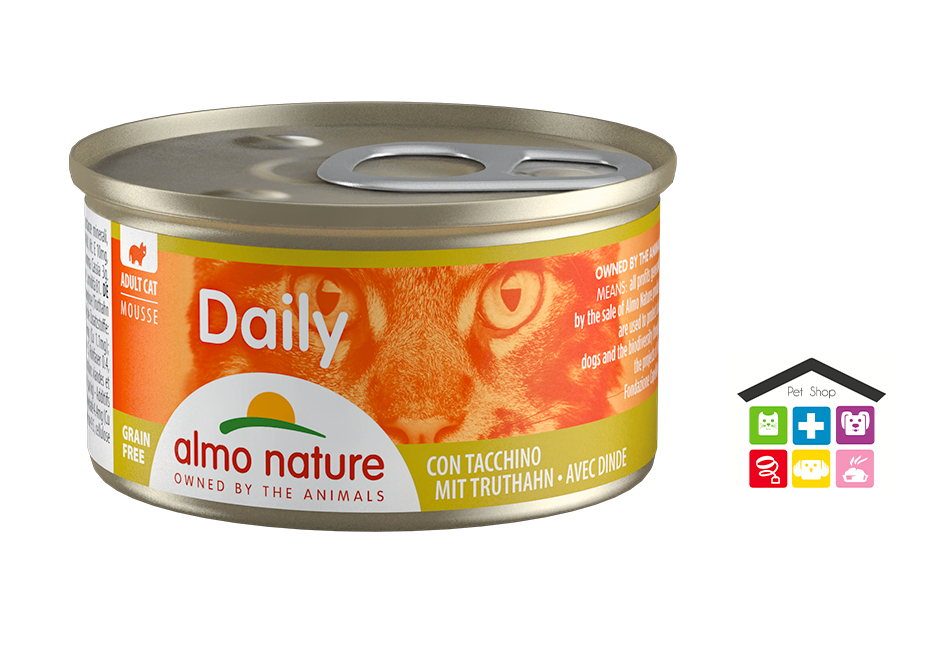 Almo Nature Daily Mousse con Tacchino 0,85gr