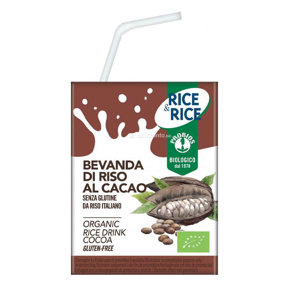 BEVANDA DI RISO CON CACAO  200ML  200ml  RICE & RICE