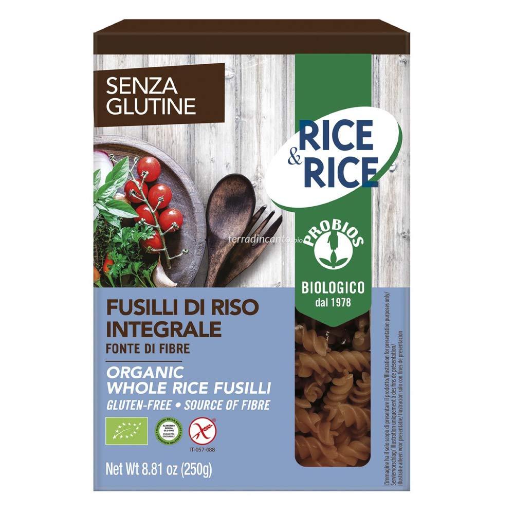 FUSILLI DI RISO INTEGRALI  250g  RICE & RICE