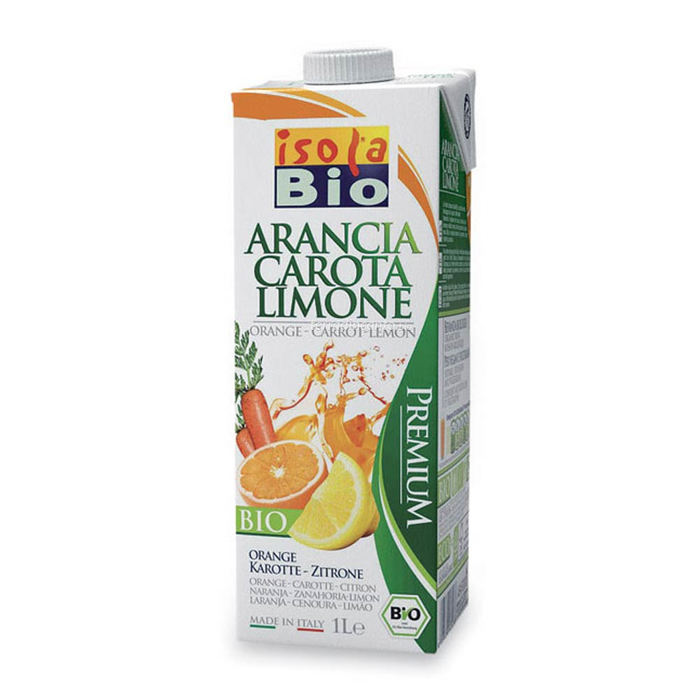 Succo di arancia carota limone Isola bio