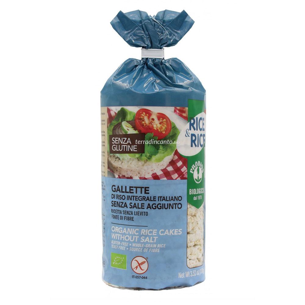 GALLETTE DI RISO SENZA SALE - senza glutine  100g  RICE & RICE