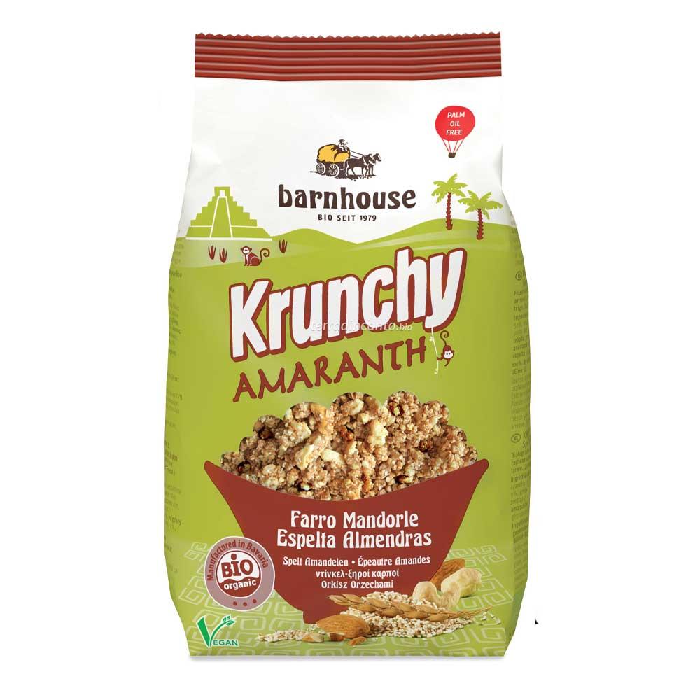 Krunchy amaranth - granola all'amaranto con farro e mandorle Barnhouse