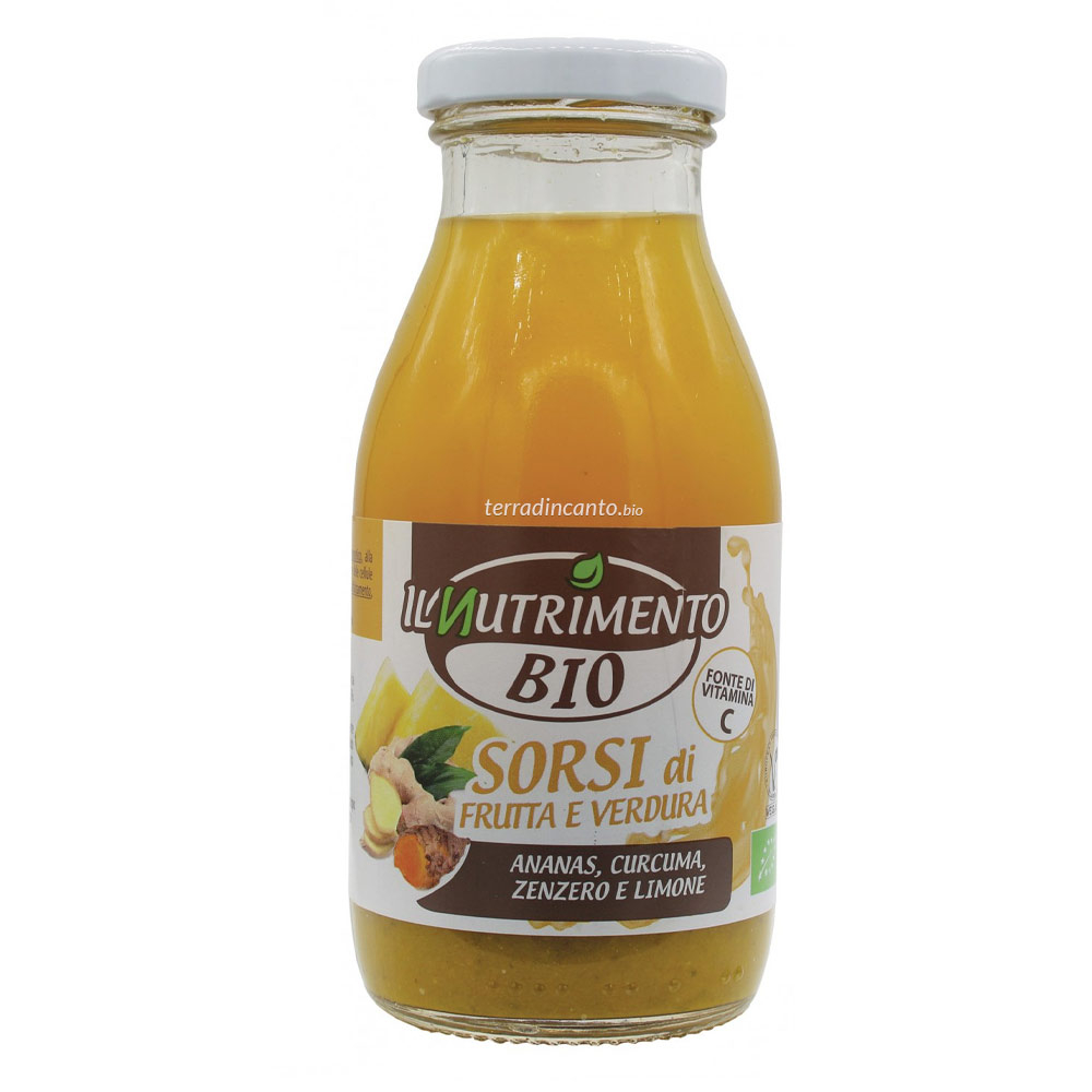 GIALLO - Ananas Curcuma Zenzero e Limone  250 ml  IL NUTRIMENTO