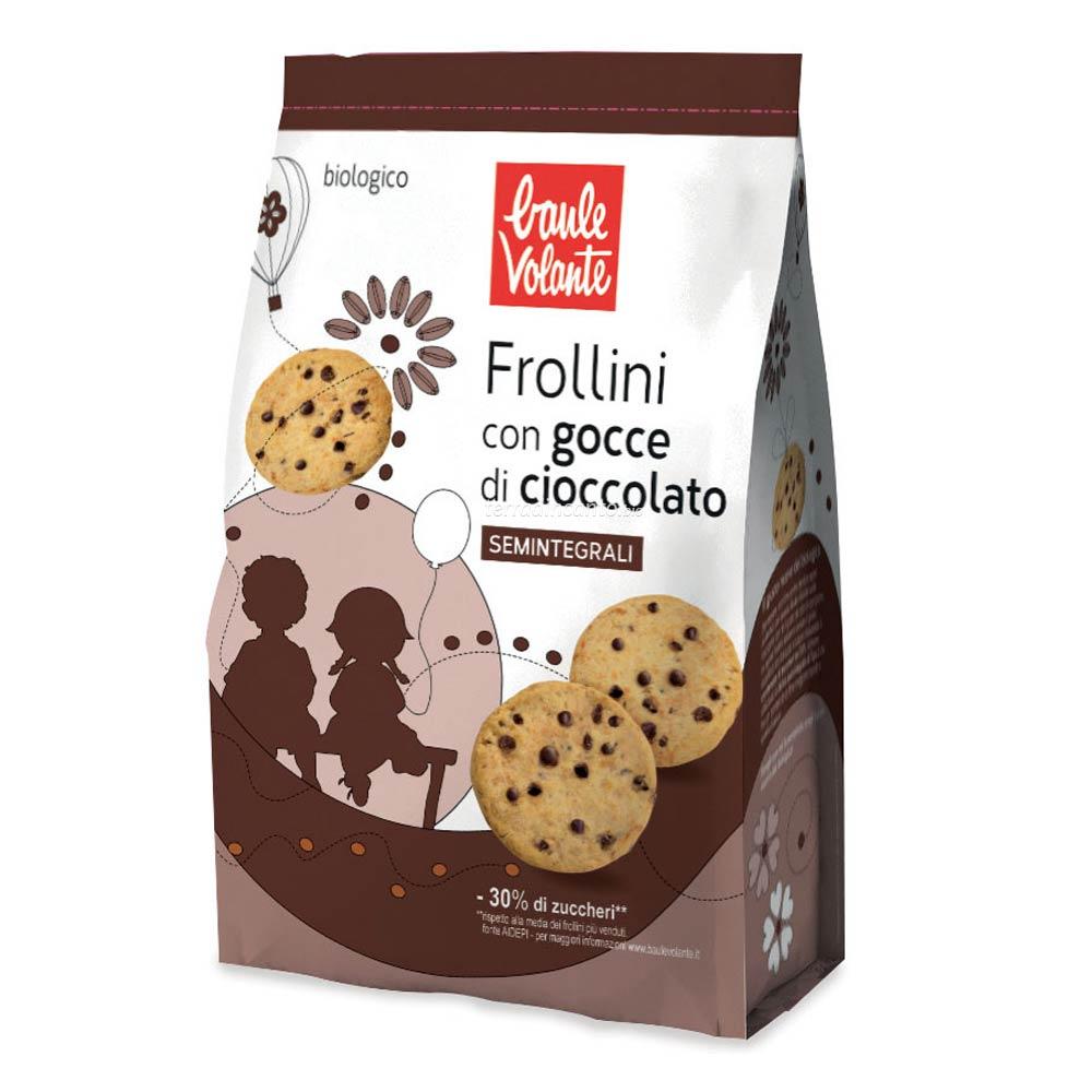 Frollini con gocce di cioccolato semintegrali Baule volante