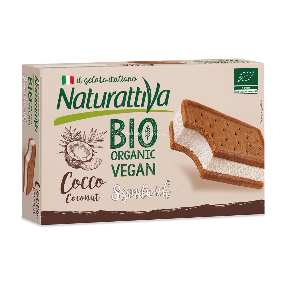 Sandwich a base di bevanda di cocco con biscotto Naturattiva