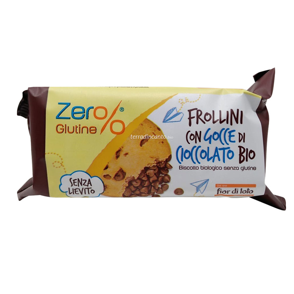 Frollini con gocce di cioccolato Zer%glutine