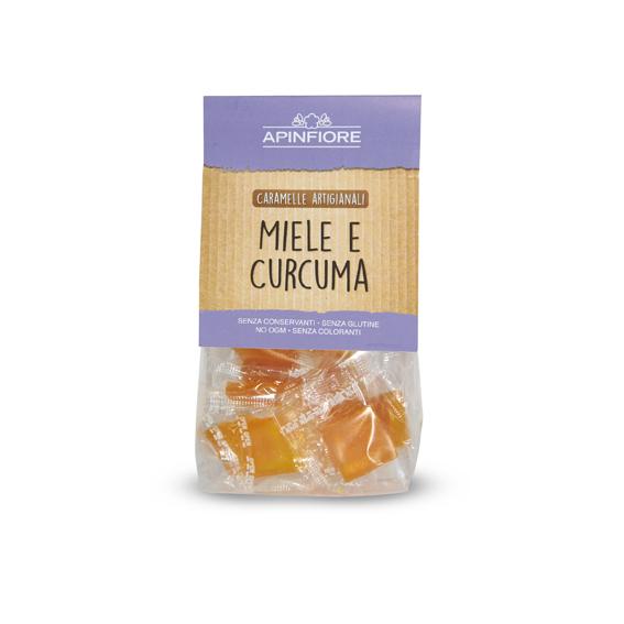 Apinfiore, Caramelle Miele e Curcuma 50 gr