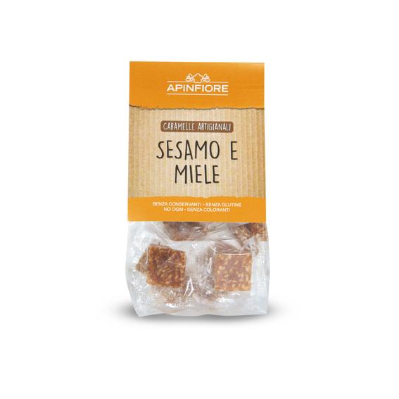 Apinfiore, Croccantina Sesamo e Miele 50 gr