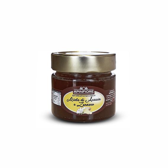 Apinfiore, Miele Italiano di Acacia e Zenzero 200 gr