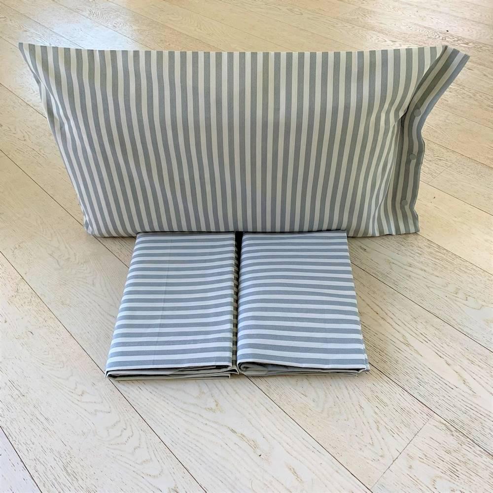 Completo Lenzuola Riga bastoncino grigio