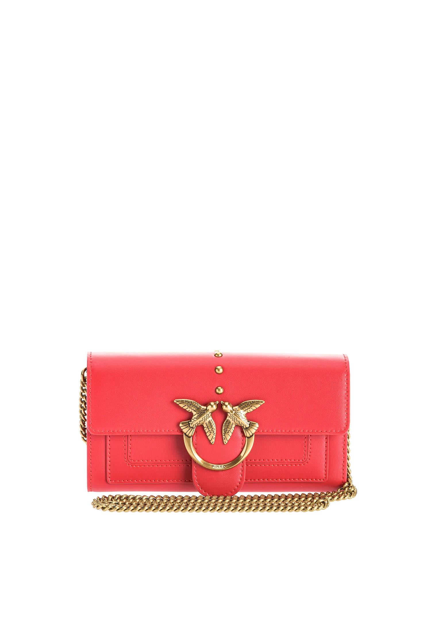 Tracolla portafoglio love wallet rosso Pinko