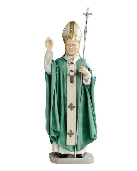 S. Giovanni Paolo II cm. 30 resina