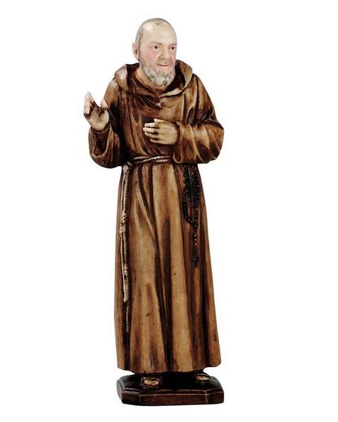 S. Pio da Pietrelcina in resina cm. 15