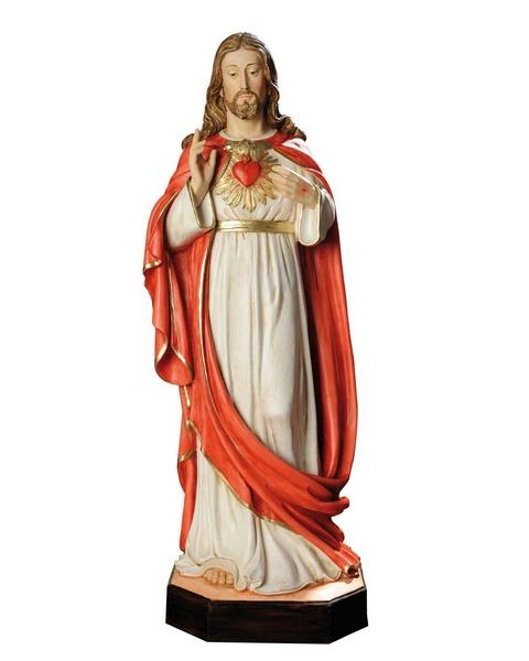Sacro Cuore di Gesù in resina cm. 80