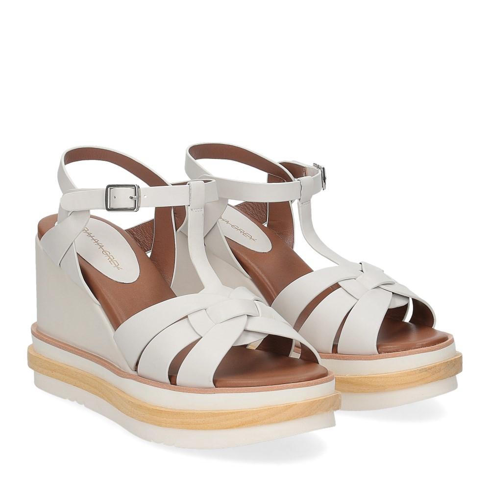 Rahya Grey sandalo krizia pelle bianco