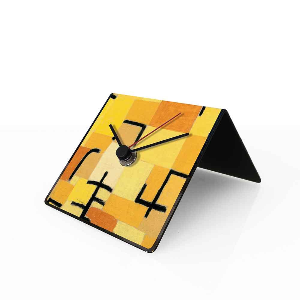 Orologio da tavolo con calendario perpetuo Arte Klee 10x10x10 cm