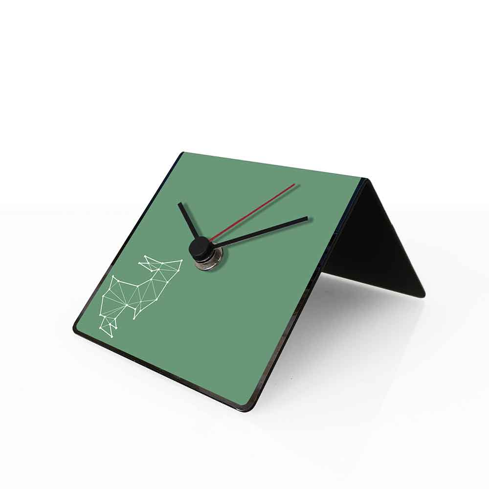 Orologio da tavolo con calendario perpetuo Totem Rabbit 10x10x10 cm