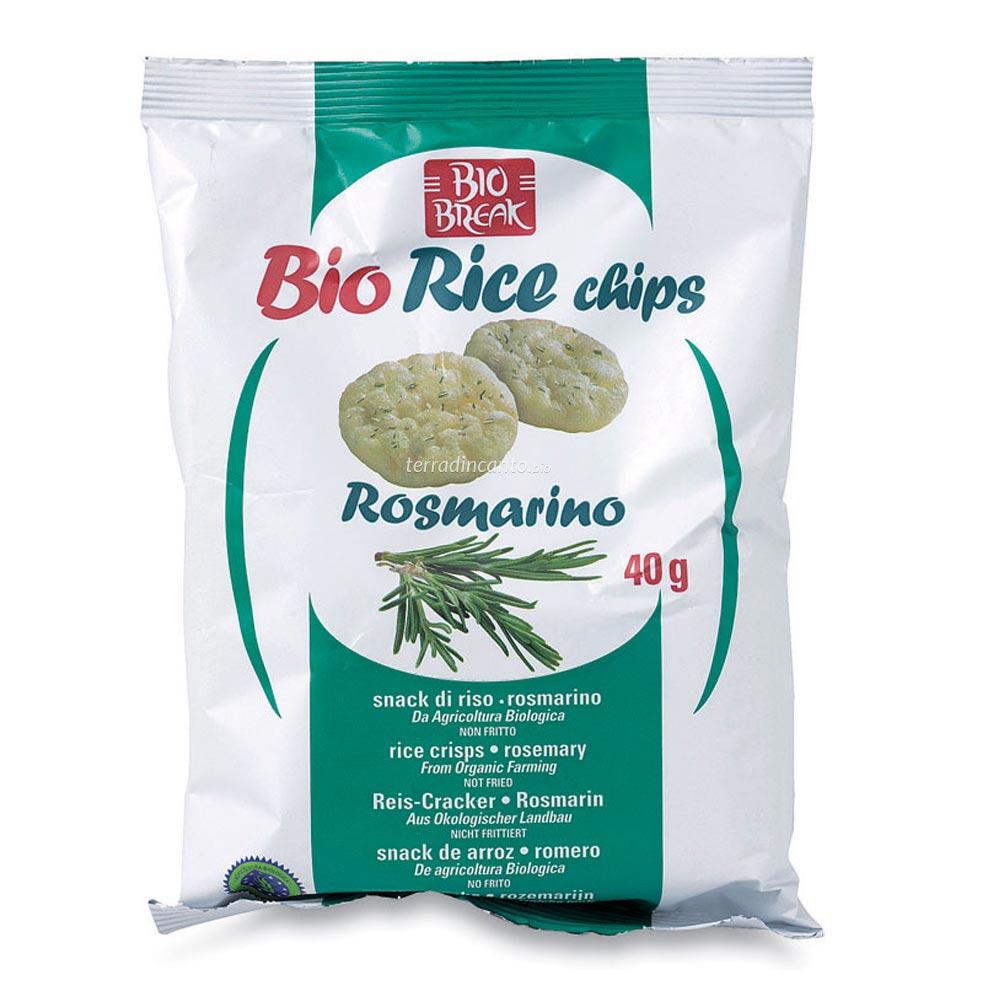 Bio rice chips al rosmarino Bio break