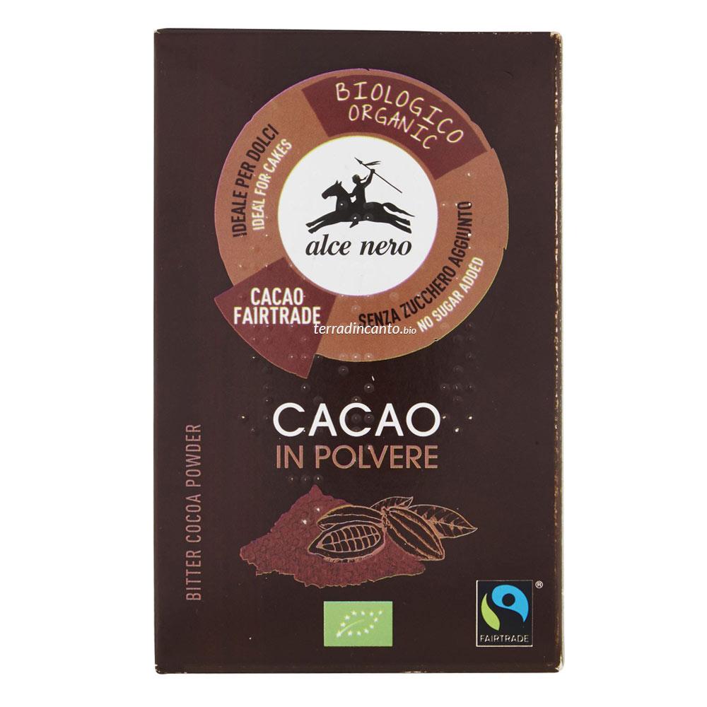 Cacao amaro in polvere Alce nero fairtrade