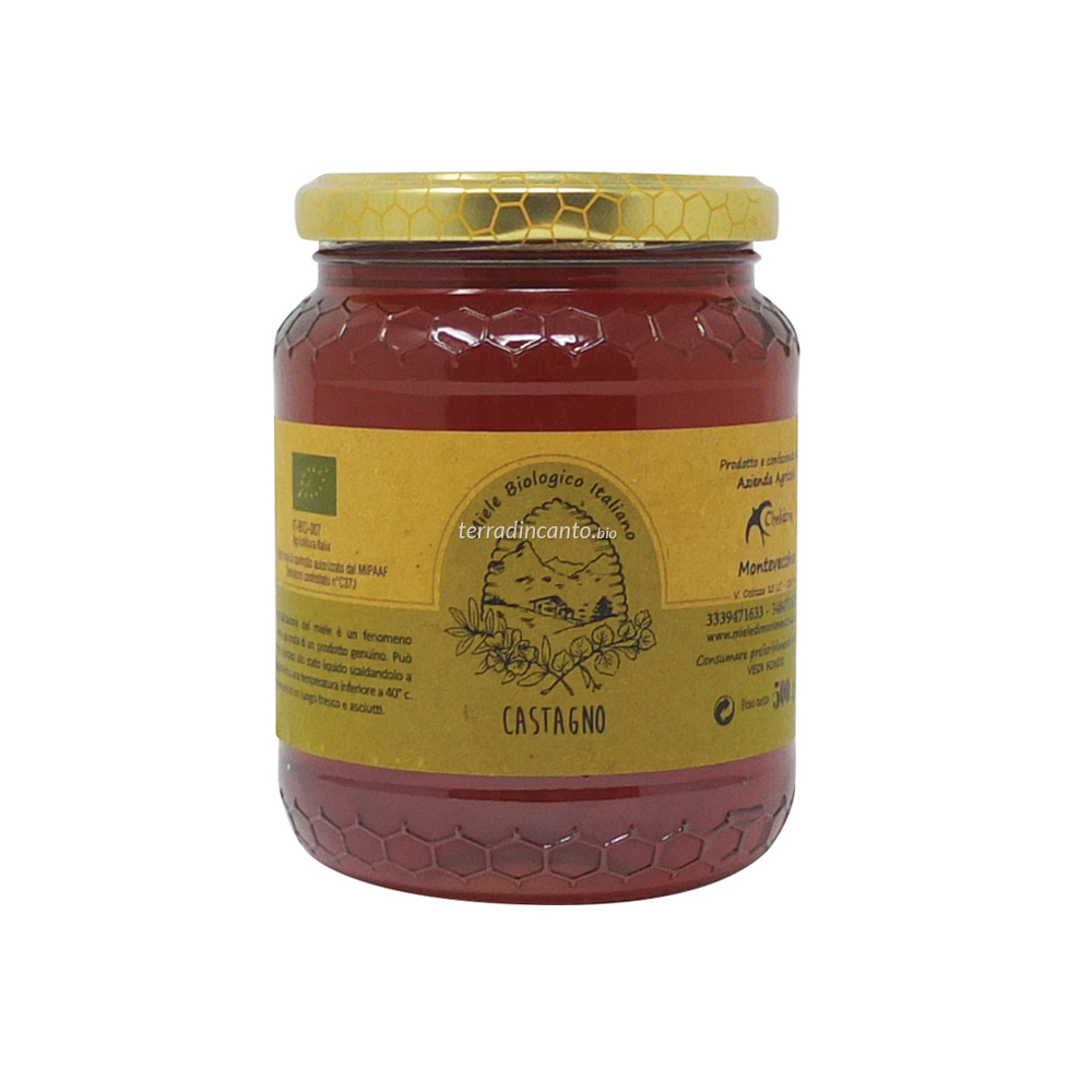 Miele di Castagno Bio 500 Gr Chelidonia Parco di Montevecchia