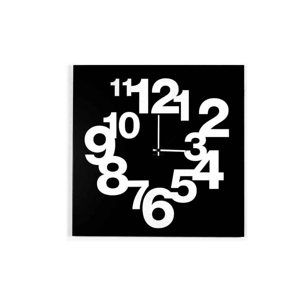 Orologio da muro Numbers Circle nero