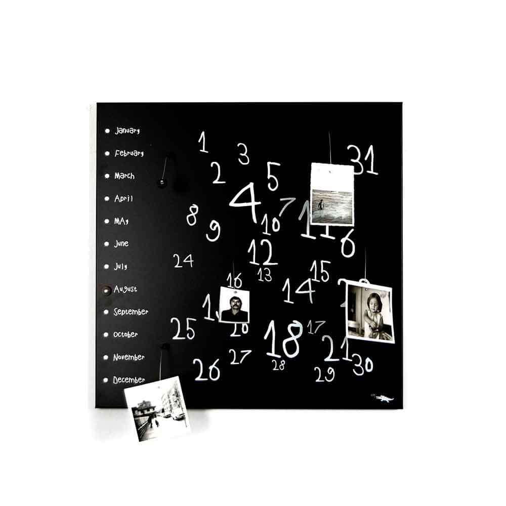 Calendario organizer decorativo da muro Krok1 nero