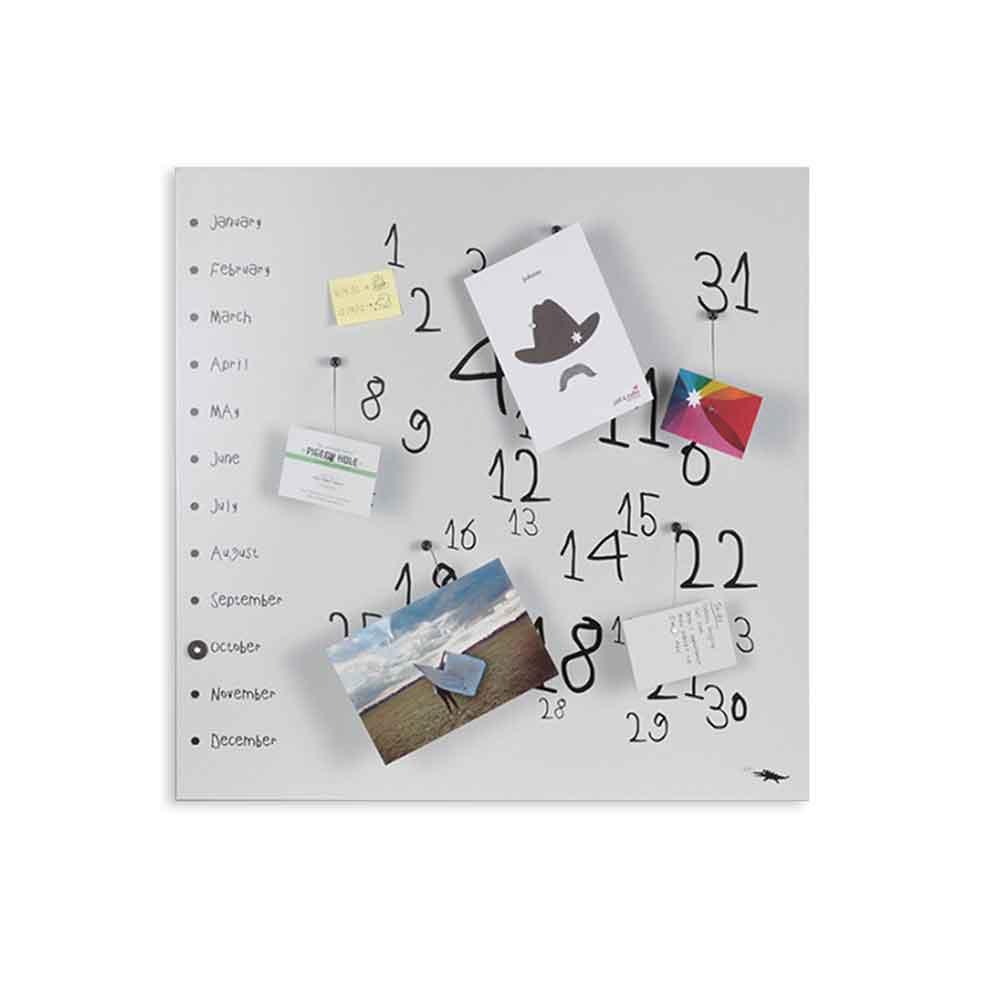 Calendario organizer decorativo da muro Krok1 bianco
