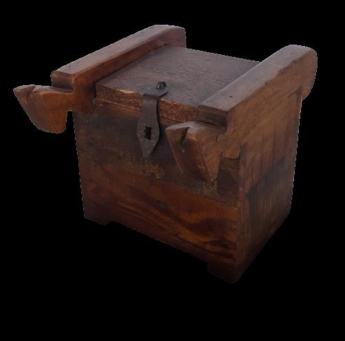 Scatola piccola in legno di teak recuperato da vecchi ponti