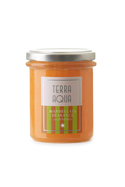 Marmellata di Arance Tarocco con Zenzero   Peso netto 120g-240g  
