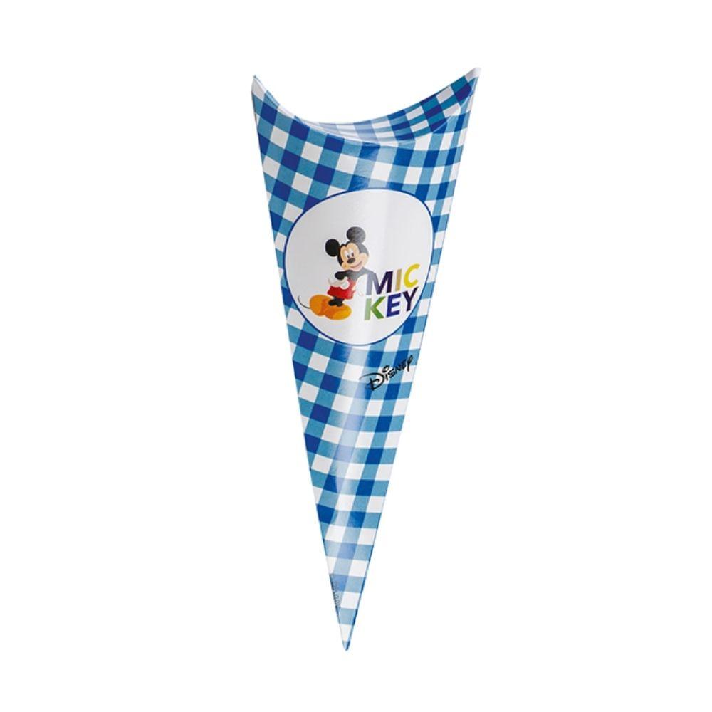 Porta confetti caramelle cono busta Michey Mouse blu