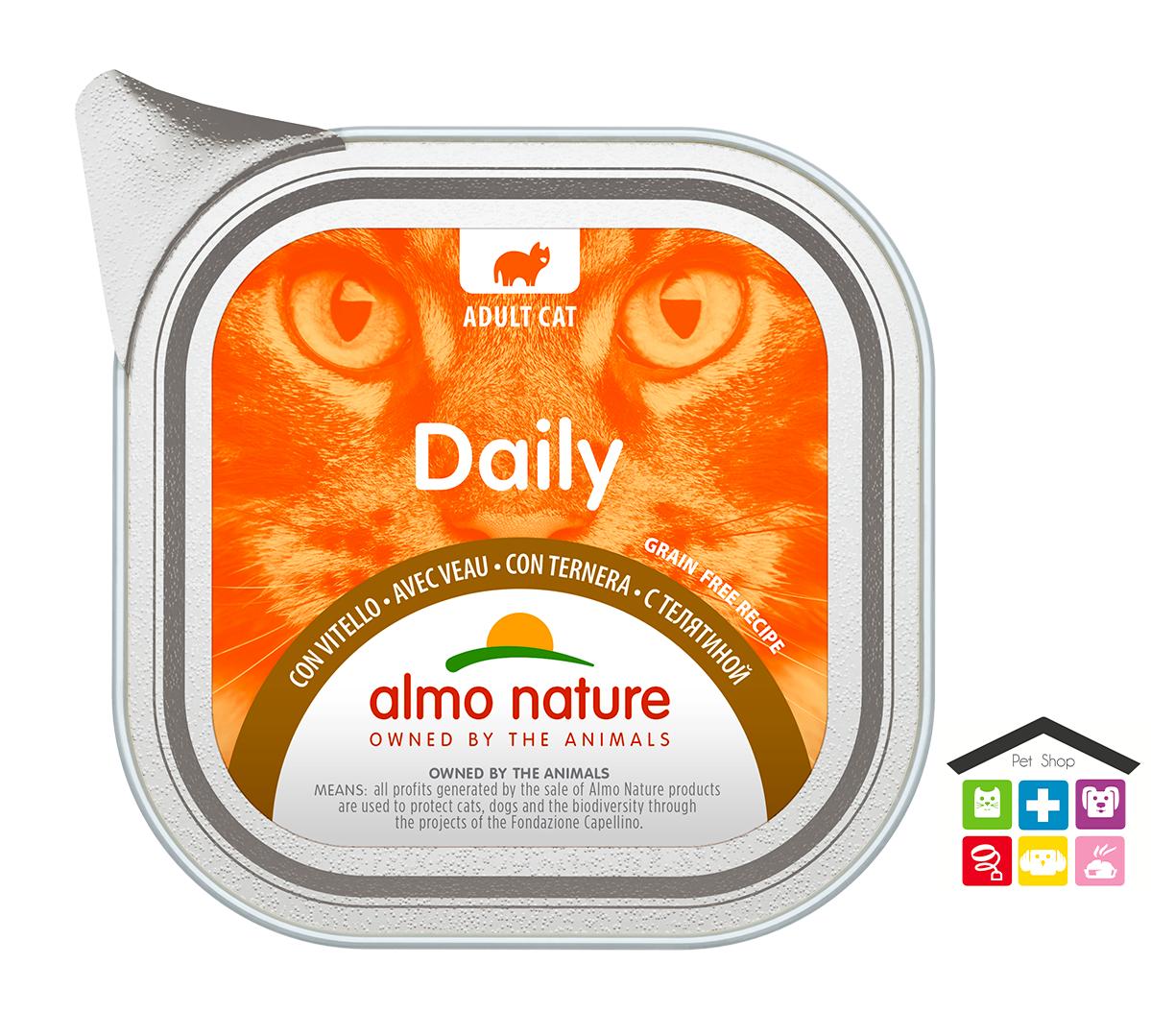 Almo Natura Daily Grain Free Recipe Con Vitello 0,100g