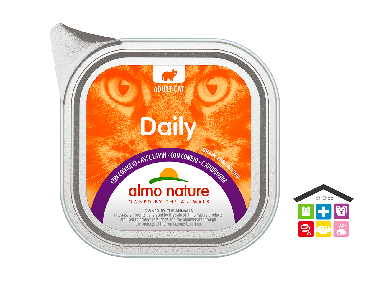 Almo Nature  Daily Grain Free Recipe Con Coniglio 0,100gr