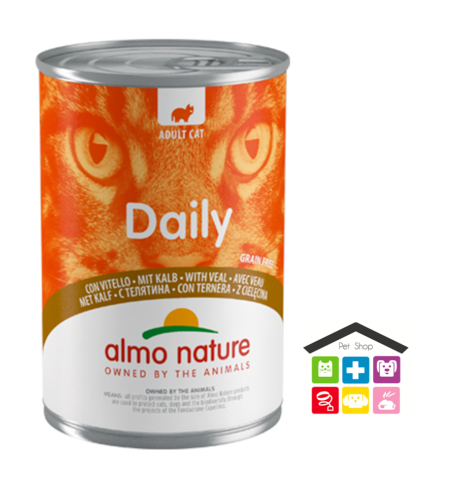 Almo Nature Daily Grain Free Recipe Con Vitello 0,400g